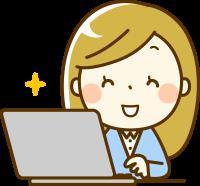 女性&パソコン